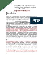 Programa de La Patria 2013 2019 Word