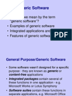 2-4 Generic Software