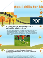 Football Drills for Kids