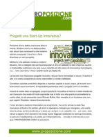 Progetti una Start Up innovativa