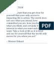 TAKING ACTION Werner Erhard
