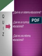 1 Presentación curriculo quiz I