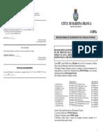 RICONOSCIMENTO LEGITTIMITA` D.B.F.EX ART. 194 DEL DLGS 18/0 8/2000, N. 267 DEL DERIVANTE DALLA SENTENZA N. 261/20012 DELLA CORTE DI APPELLO DI LECCE, SEZIONE DISTACCATA DI TARANTO:COMU NE DI MARTINA FRANCA C/SRL PERGOLO, NONCHE` C.G.