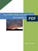 LA CRISIS VISTA  CON UN POCO DE SENTIDO COMÚN EDIT