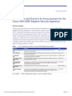 End of Life CISCO ASA 5580-20