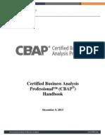 CBAP Handbook December5 2013