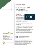 Scope Comparison 2010 and 1991 ADA
