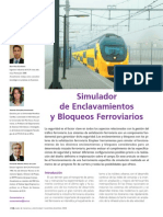 Simulador de enclavamientos y bloqueos ferroviarios