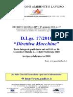 Direttiva Macchine D Lgs 17 2009