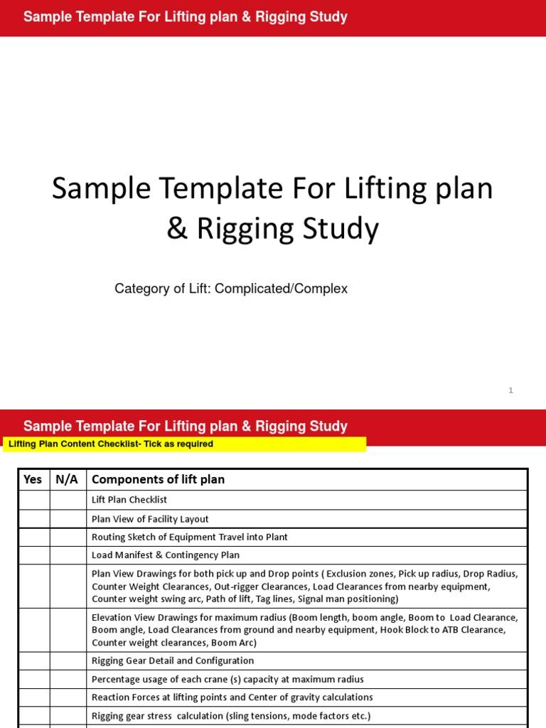 Sample lifting plan and rigging study elevator crane machine 1betcityfo Images
