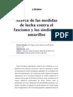 Acerca de Las Medidas de Lucha Contra El Fascismo y Los Sindicatos Amarillos