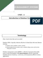 Database Management Unit-I