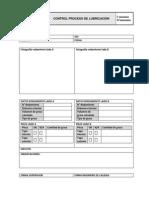 Formulario control de lubricación