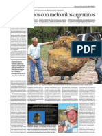 Más negocios con meteoritos argentinos