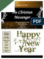 December 29 Newsletter