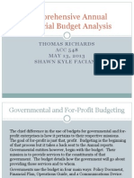 Comprehensive Annual Financial Budget Analysis