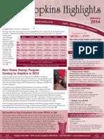 Hopkins Highlights-January 2014