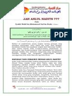 Siapakah Ahlul Hadits