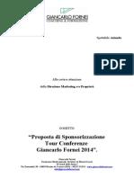 Tour 2014 - Proposta Di Sponsorizzazione Conferenze Giancarlo Fornei...