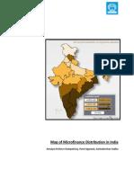 Map of Microfinance Distribution