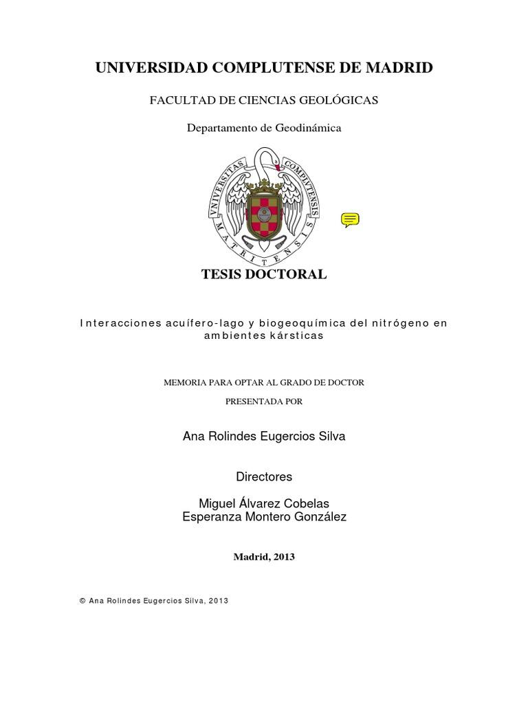 newest collection 4b116 1576c Interacciones acuífero-lago y biogeoquímica del nitrógeno en ambientes  karsticos
