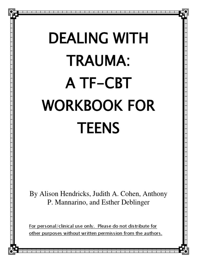 Dealing With Trauma - A TF-CBT Workbook for Teens | Psychological ...