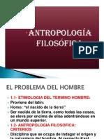 Antropologia Filosofica PROBLEMA DEL HOMBRE