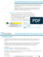 EchoSign E-Sign Text Tags for Signatures in Web / PDF Forms