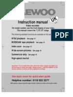 User Guide Daewoo VCR TRANGE Userguide
