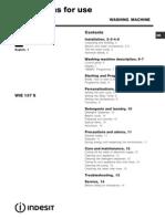 User Manual Indesit WIE137_S_04074102