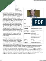 Gary Webb - Wikipedia, The Free Encyclopedia
