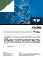 Manual de Usuario Pulsar 200 NS