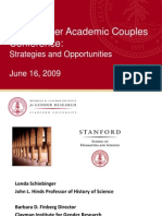 Clayman Institute Dual-Career Academic Couples - Key Findings Presentation