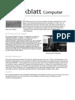 Merkblatt Computer