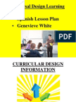 universal design learning lesson plan