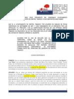 Acuerdo Municipio de Centro Zona Conurbada Vhsa Nacajuca