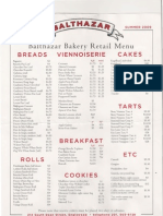 Balthazar Bakery Retail Menu - Englewood