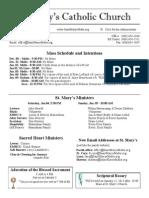 Bulletin for December 29, 2013