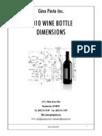 Dimensiunele standard ale sticlelor de vin