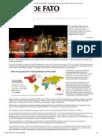 Mapa da desigualdade em 2013_ 0,7% da população detém 41% da riqueza mundial _ Brasil de Fato
