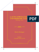 Heidegger Martin Auto Afirmacao Universidade Alema