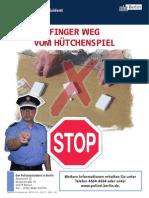 Huetchenspiel Plakat