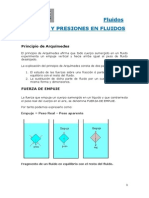 Teoría fuerza y presiones enFluidos
