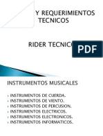 Sonido y Requerimientos Tecnicos. Diapositivas