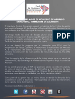 Balance de Gobierno 2013 - Asunción
