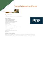 Salpicão de Frango Defumado no Abacaxi