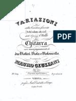 Op 101 Variations Quatuor