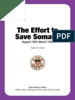 Operation Save Somalia History