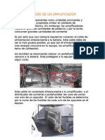 11.- Conexión de un AMPLIFICADOR
