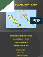 Exposiscion 4to Geologia y Minas. Luz Polarizada Plana